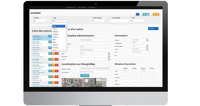 Extranet minisite - store locator
