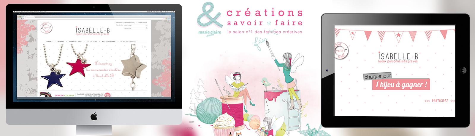 Isabelle-B au salon Création & Savoir-faire